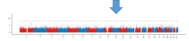 Manhattan plot biobank GWAS